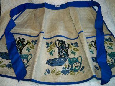 Vintage Belgian Linen Kitchen Apron Kitchenware MWT