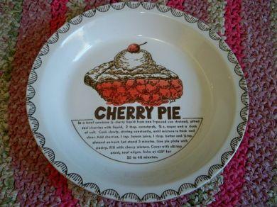 Vintage Cherry Pie Plate Ceramic Dee Designer & Luv2LuvAntiques - Vintage Cherry Pie Plate Ceramic Dee Designer ...