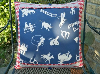 Vintage Cowboy Cowgirl Western Pillow